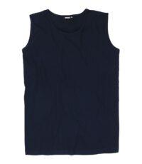 Adamo grote maat mouwloos t-shirt donkerblauw