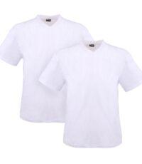 Adamo v-hals t-shirt grote maat korte mouw wit