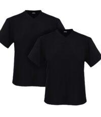 Adamo grote maat t-shirts zwart v-hals