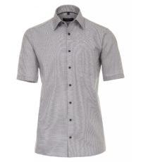 Casa Moda grote maat overhemd korte mouw antracietgrijs werkje strijkvrij