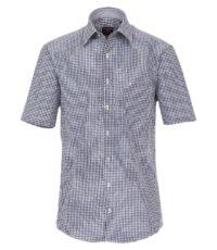 Casa Moda grote maat overhemd korte mouw blauw en wit ruitje