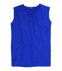 Adamo grote maat mouwloos t-shirt blauw