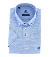 Culture grote maat overhemd korte mouw blauw button down