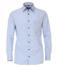 Casa Moda grote maat lange mouw overhemd lichtblauw contrast strijkvrij