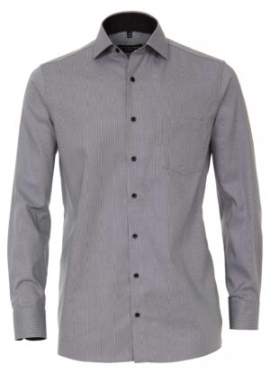 Casa Moda grote maat lange mouw overhemd antracietgrijs werkje strijkvrij
