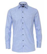 Casa Moda grote maat lange mouw overhemd lichtblauw werkje strijkvrij