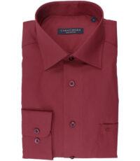 Casa Moda grote maat lange mouw overhemd rood strijkvrij