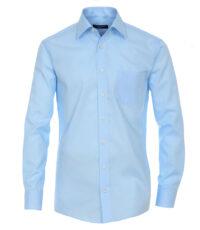 Casa Moda grote maat lange mouw overhemd licht turquoise strijkvrij