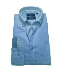 Casa Moda grote maat lange mouw overhemd blauw button down