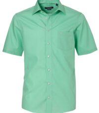 Casa Moda grote maat korte mouw overhemd lindengroen strijkvrij