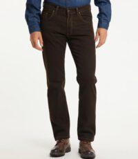 Pioneer lengte maat stretch jeans bruin structuur