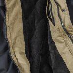 Brigg mouwlengte7 winter jack zwart en grijs met capuchon