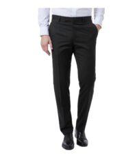 Grote maat Luigi Morini stretch pantalon zwart