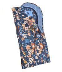 Culture mouwlengte7 overhemd donkerblauw bloem print