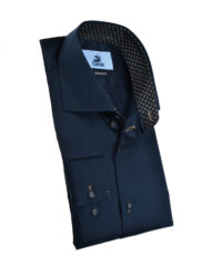 Culture mouwlengte7 overhemd donkerblauw under button down
