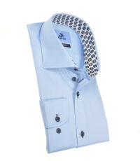 Culture mouwlengte7 overhemd lichtblauw under button down