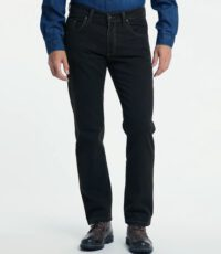 Pioneer lengte maat stretch jeans blauw structuur