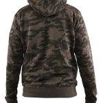 D555 grote maat camouflage sweatvest groen met capuchon