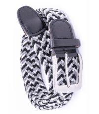 D555 extra lange grote maat stretch riem zwart wit en grijs