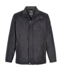 Canson grote maat winterjas donkerblauw gewatteerd