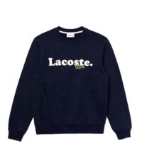 Lacoste grote maat sweater ronde hals donkerblauw