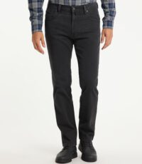 Pioneer lengte maat stretch jeans antracietgrijs structuur