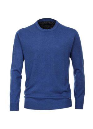 Casa Moda grote maat ronde hals trui blauw