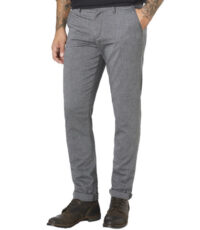 Paddock's lengte maat casual stretch chino grijs model Codie