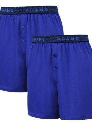 Adamo grote maat boxershorts blauw stretch