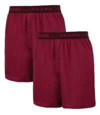 Adamo grote maat boxershorts bordeauxrood stretch