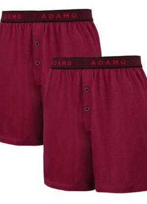 Adamo grote maat boxershorts bordeauxrood stretch