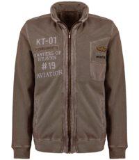 Kitaro sweat jacket grote maat olijfgroen