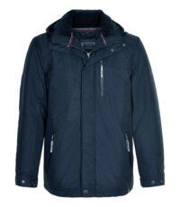 Canson grote maat winterjas donkerblauw aquatex