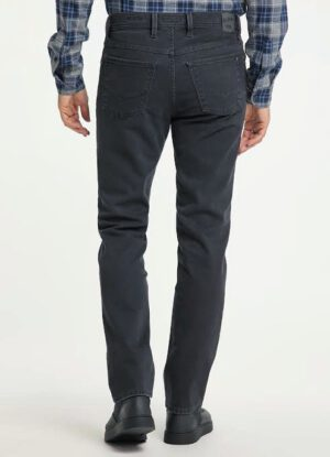 Pioneer grote maat stretch jeans grijs structuur