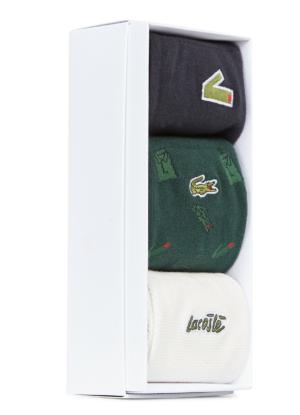 Lacoste sokken 3paar 1paar groen 1paar wit 1paar donkerblauw