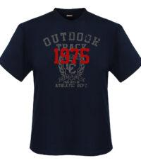Adamo grote maat t-shirt donkerblauw Outdoor Track 1975