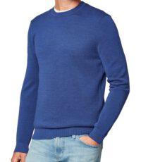 Maerz grote maat trui ronde hals blauw