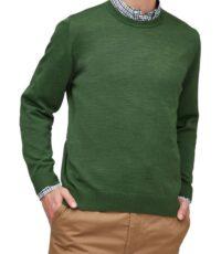 Maerz grote maat trui ronde hals groen