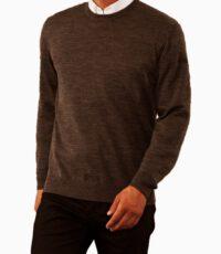 Maerz grote maat trui ronde hals bruin