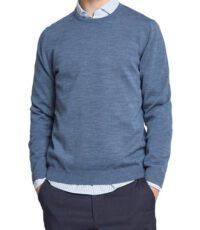 Maerz grote maat trui ronde hals lichtblauw