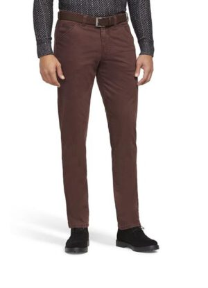 Meyer grote maat stretch chino roodbruin