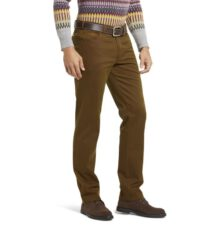Meyer grote maat stretch chino donkerbeige