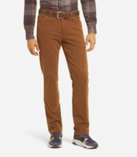 Meyer grote maat stretch chino camel