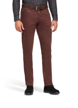 Meyer grote maat stretch chino rood
