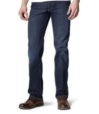Mustang grote maat jeans Tramper dark stonewashed light used