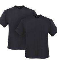 Adamo grote maat t-shirts antracietgrijs