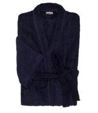 Adamo grote maat badjas donkerblauw