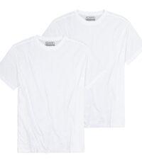 Adamo t-shirt grote maat wit korte mouw ronde hals