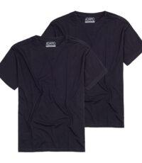 Adamo t-shirt grote maat donkerblauw korte mouw ronde hals