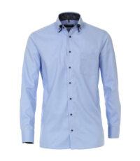 Casa Moda grote maat overhemd lange mouw blauw dubbele kraag